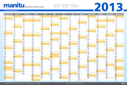 Kalender 2013 als PDF